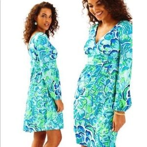 LILLY PULITZER FLEUR LONG SLEEVE DRESS